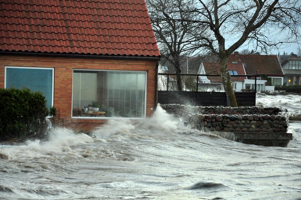 Roskilde Fjord under stormen Bodil den 6. december 2013. (Foto: Martin Drevs, DMI)