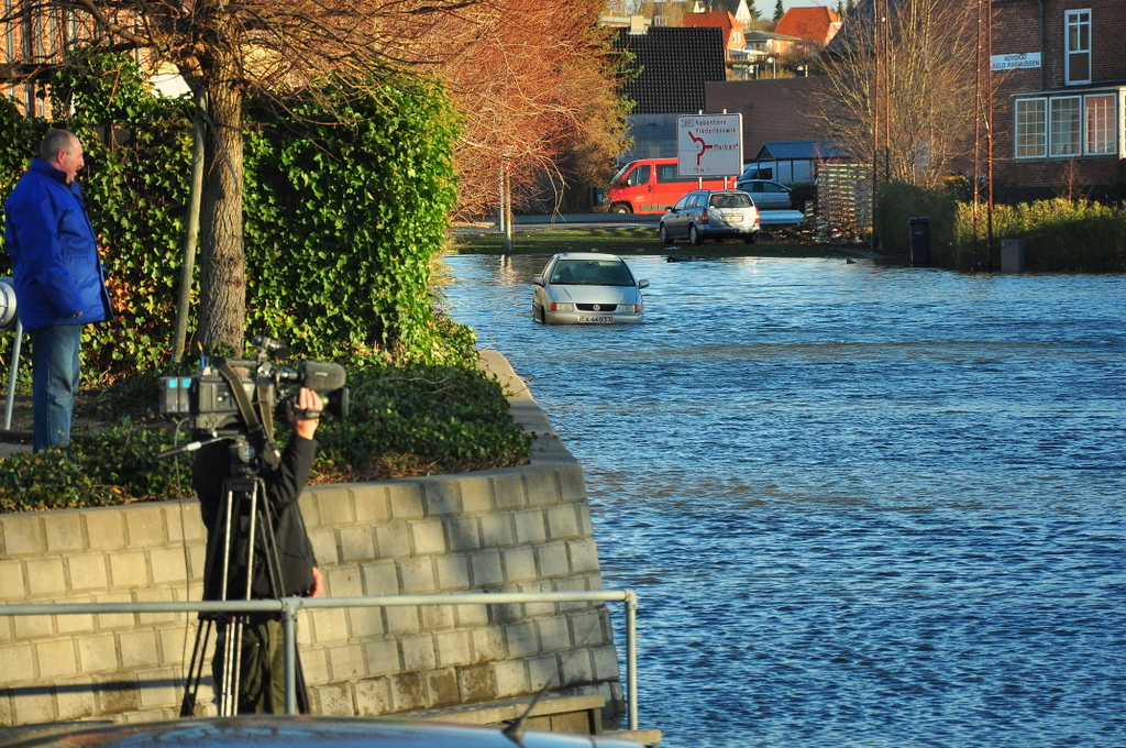 Roskilde Fjord under stormen Bodil den 7. december 2013. (Foto: Martin Drevs, DMI)